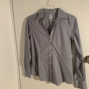 Brooks Brothers striped collared shirt